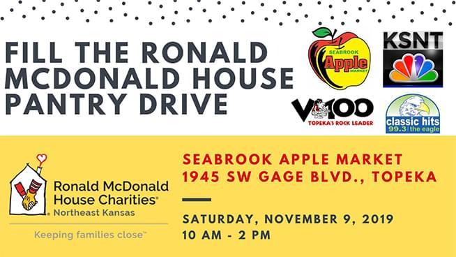 Fill the Ronald McDonald House Pantry Drive – November 9th!