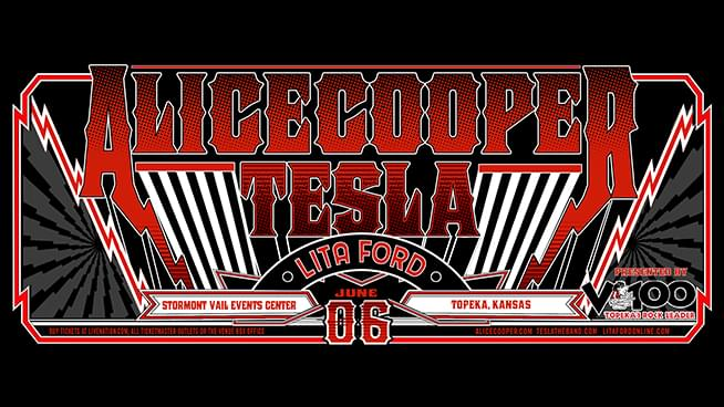 V100 Presents: Alice Cooper, Tesla and Lita Ford at SVEC