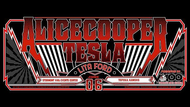 Alice Cooper, Tesla and Lita Ford at SVEC