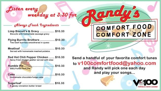 Randy's Comfort Food, Every Weekday