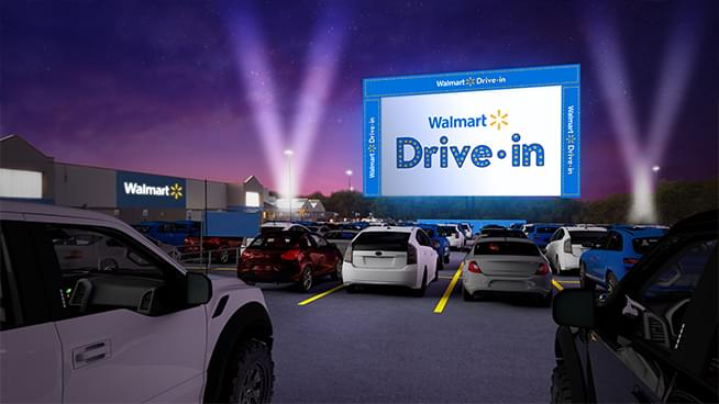 Topeka Walmart Hosting  Drive-In Movies