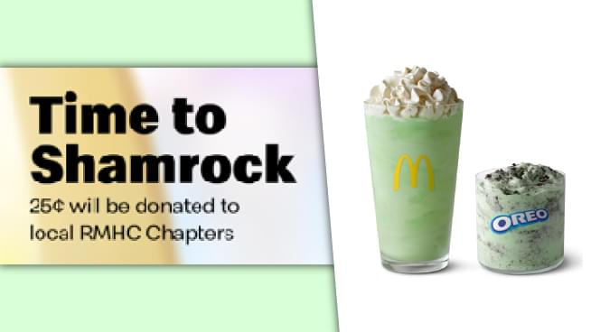 Help Local Families By Ordering A Shamrock Shake