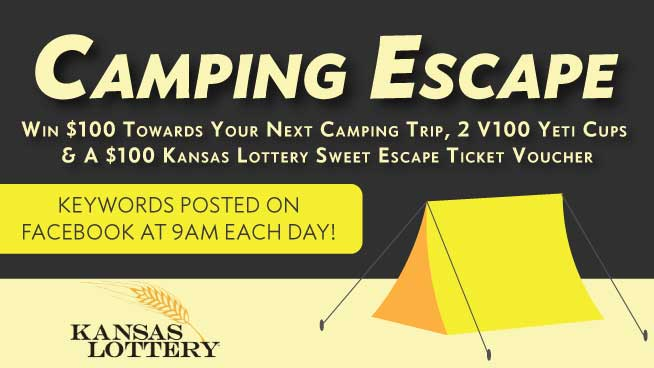 Win A Camping Escape & Kansas Lottery Tickets
