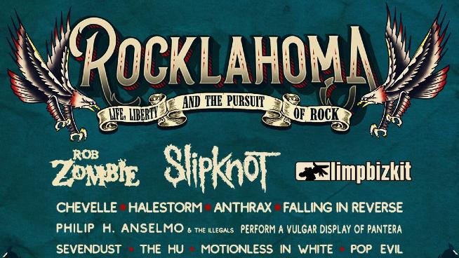 Rob Zombie, Slipknot, and Limp Bizkit to Headline Rocklahoma!