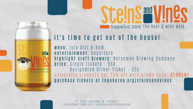 Win Tickets To Topeka Zoo's Steins and Vines Event