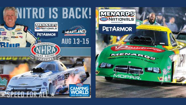 Enjoy The Races At Menards NHRA Nationals Presented By PetArmor