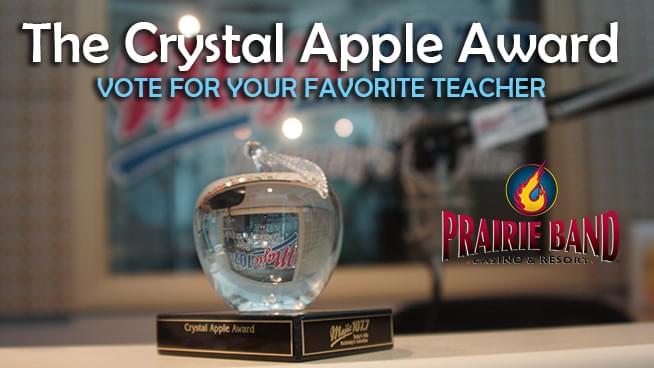 Maple Hill Elementary Teacher Wins Crystal Apple Award