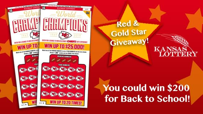 Red and Gold Back to School Giveaway with the Kansas Lottery