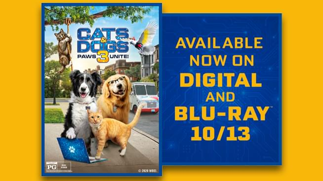Cats & Dogs 3: Paws Unite – Win Pizza and a Movie