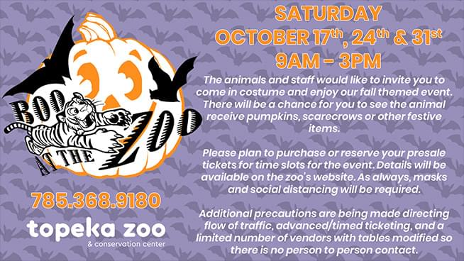 Boo At The Zoo – Oct. 17th, 24th, & 31st!