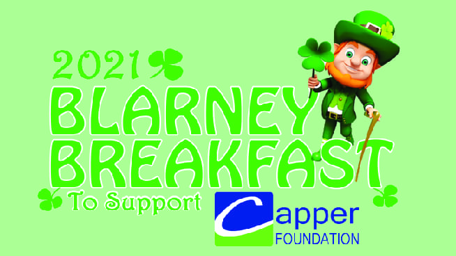 2021 Blarney Breakfast Date is set for March 13th!