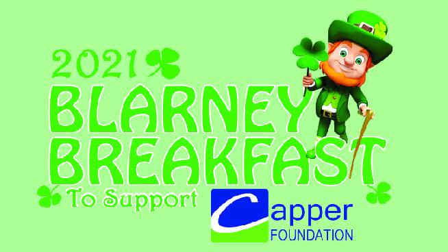 2021 Blarney Breakfast Date is set for March 13th!