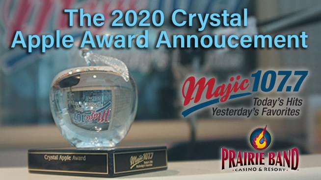 Congratulations to our 2020 Crystal Apple Winner