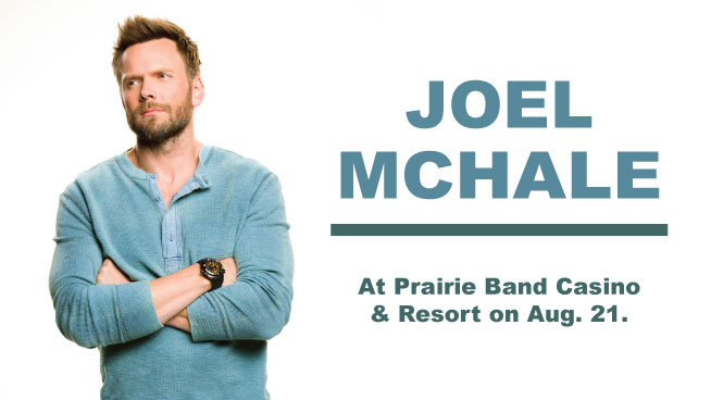 Joel McHale at Prairie Band Casino