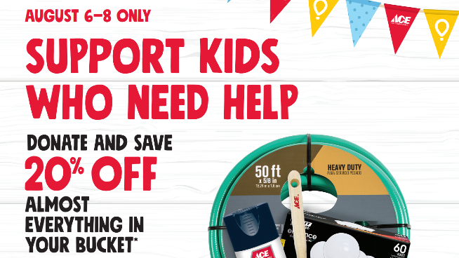 Help Local Kids in Need With Ace Bucket Days