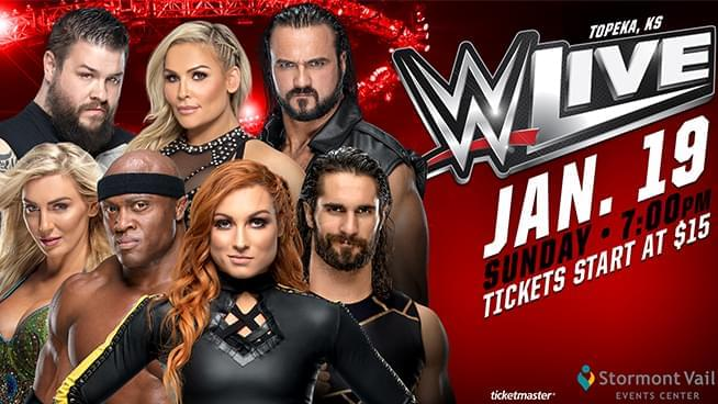 WWE Live Returns to Topeka Sunday, January 19!