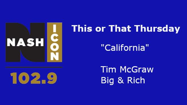 This Or That Thursday: McGraw or Big & Rich