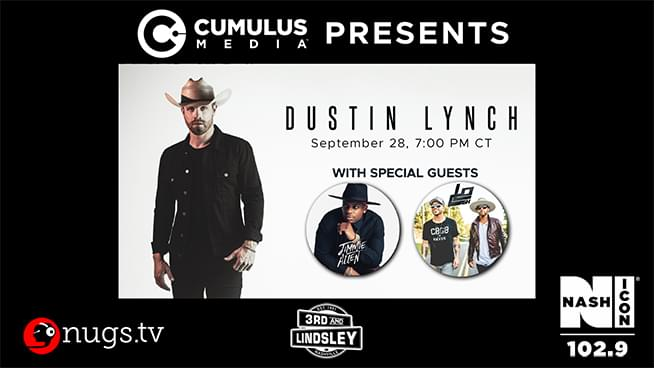 Dustin Lynch with Jimmie Allen and LoCash – Livestream on Sept. 28th!