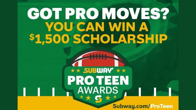 Subway Pro-Teen Awards – High School Football Players!