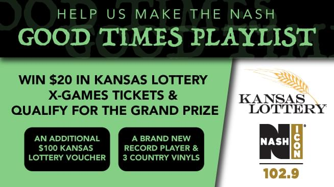 "Help Us Make A ""Good Times"" Playlist & Win Kansas Lottery Tickets"