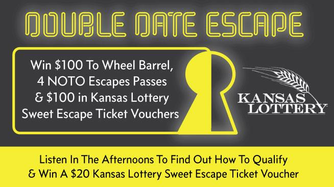 Win A Double Date Escape & Kansas Lottery Sweet Escape Tickets