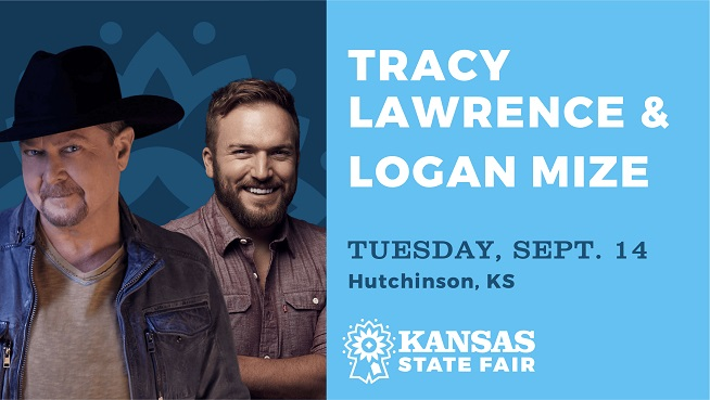 See Tracy Lawrence and Logan Mize In Concert at The Kansas State Fair!
