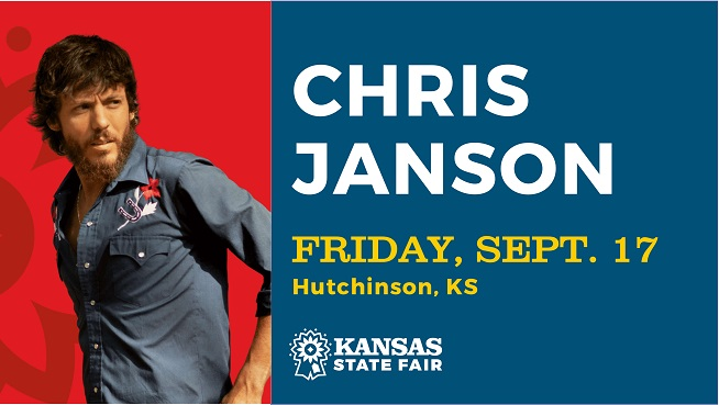 Don't Miss Chris Janson, Live In Concert at The Kansas State Fair!