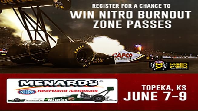 Win NHRA Heartland Nationals Burnout Zone Passes
