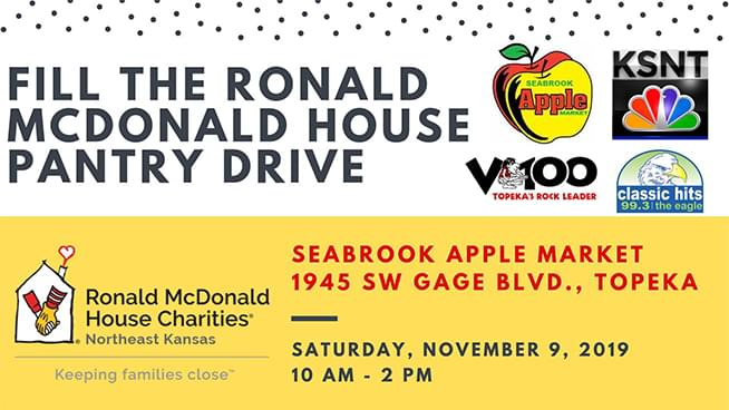 Fill the Ronald McDonald House Pantry Drive – November 9th!