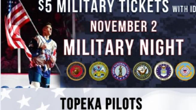 Topeka Pilots Hockey Saying Thank You To Our Military
