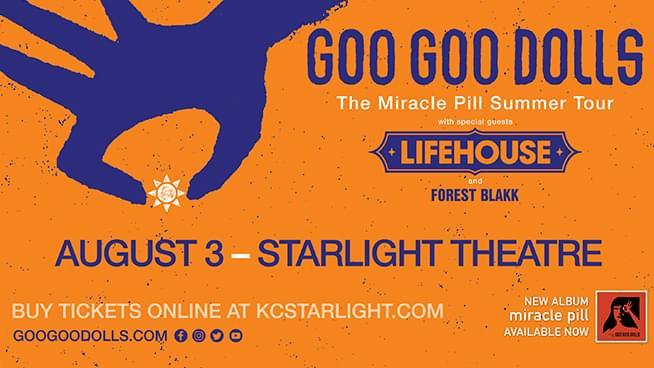 Catch the GooGoo Dolls at Starlight Theatre!