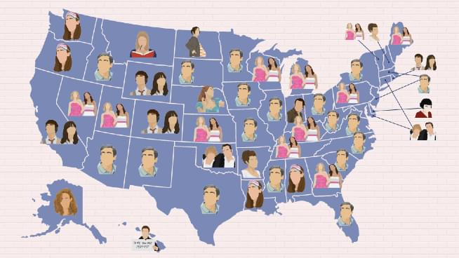 What Romantic Comedy Movie Is Most Popular In Kansas?