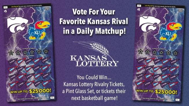 KU vs. K-State – Pick Your Favorite To Win Kansas Lottery Tickets!