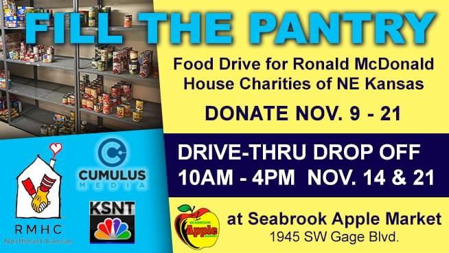 Fill The Pantry – Food Drive for RMHC