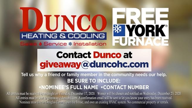 Dunco Is Giving Away A Free Furnace!