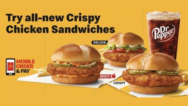 Did You Hear McDonald's Has All-New Crispy Chicken Sandwiches?