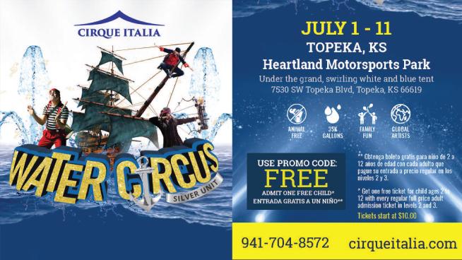 "Cirque Italia Brings ""Water Circus Silver Unit"" To Topeka"