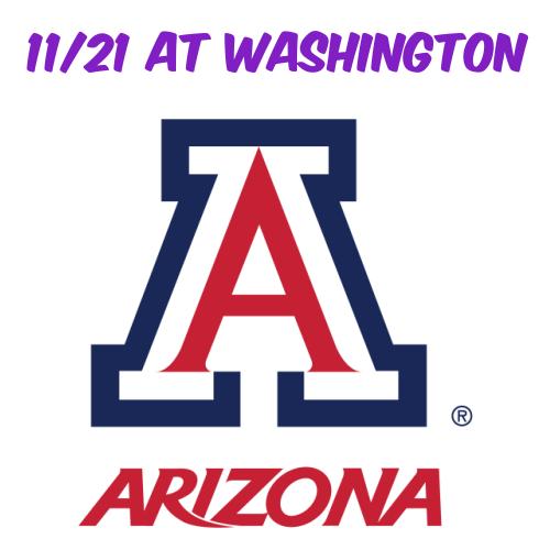 11/21: AZ Football at Washington