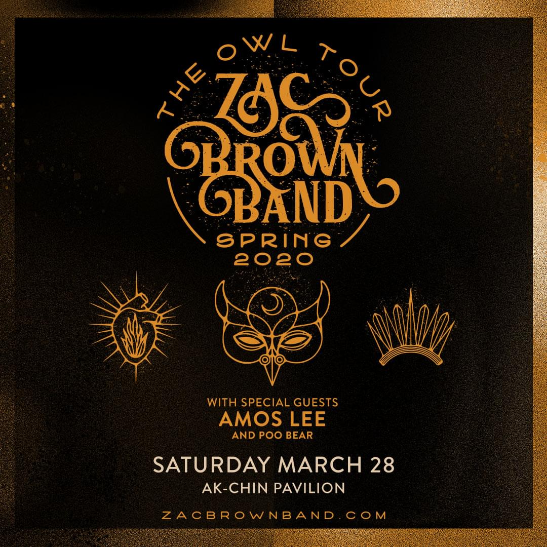 3/28: Zac Brown Band at Ak-Chin Pavilion