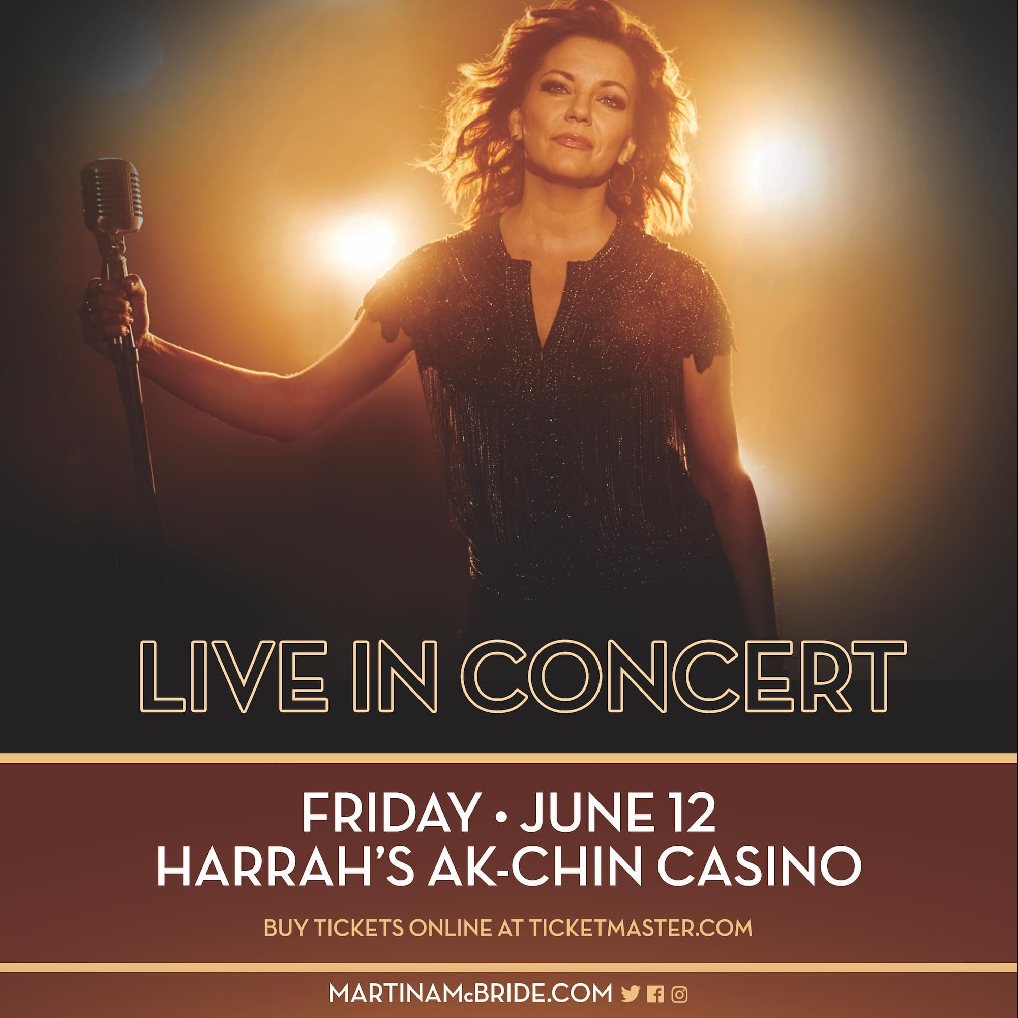 6/12: Martina McBride at Harrah's Ak-Chin