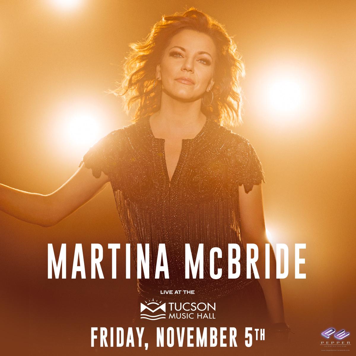 11/5/21 – Martina McBride at Tucson Music Hall