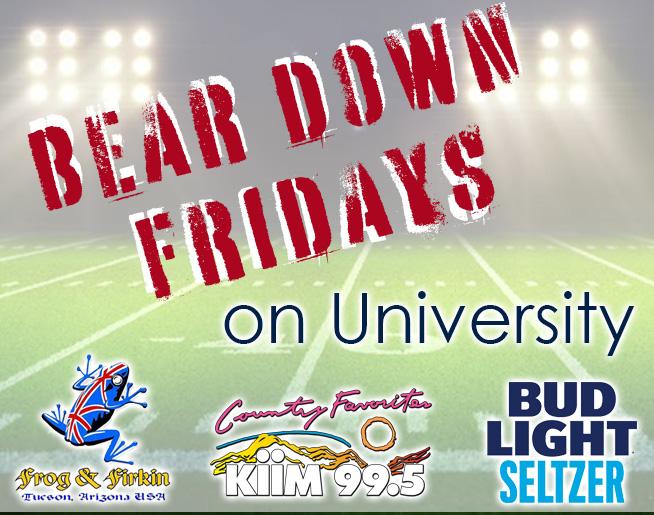 Bear Down Fridays with Buzz at Frog N Firkin!