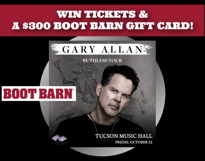 Win Gary Allan Tickets & $300 to Boot Barn!