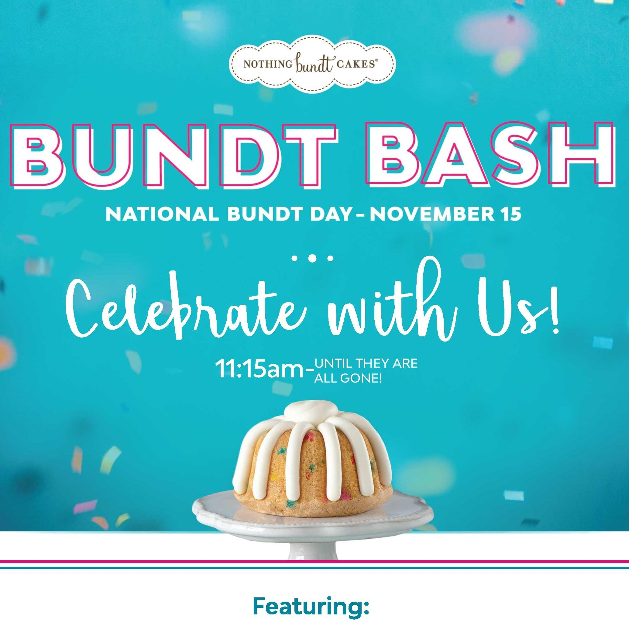 11/15: Bundt Bash at Nothing Bundt Cakes