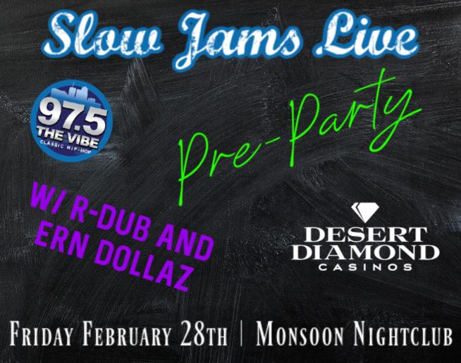 Slow Jams Live PRE-PARTY at Monsoon Nightclub!