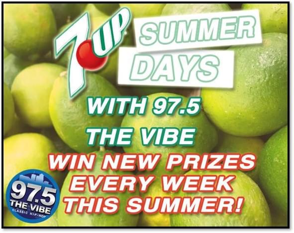 Win Prizes with 7Up Summer Days!