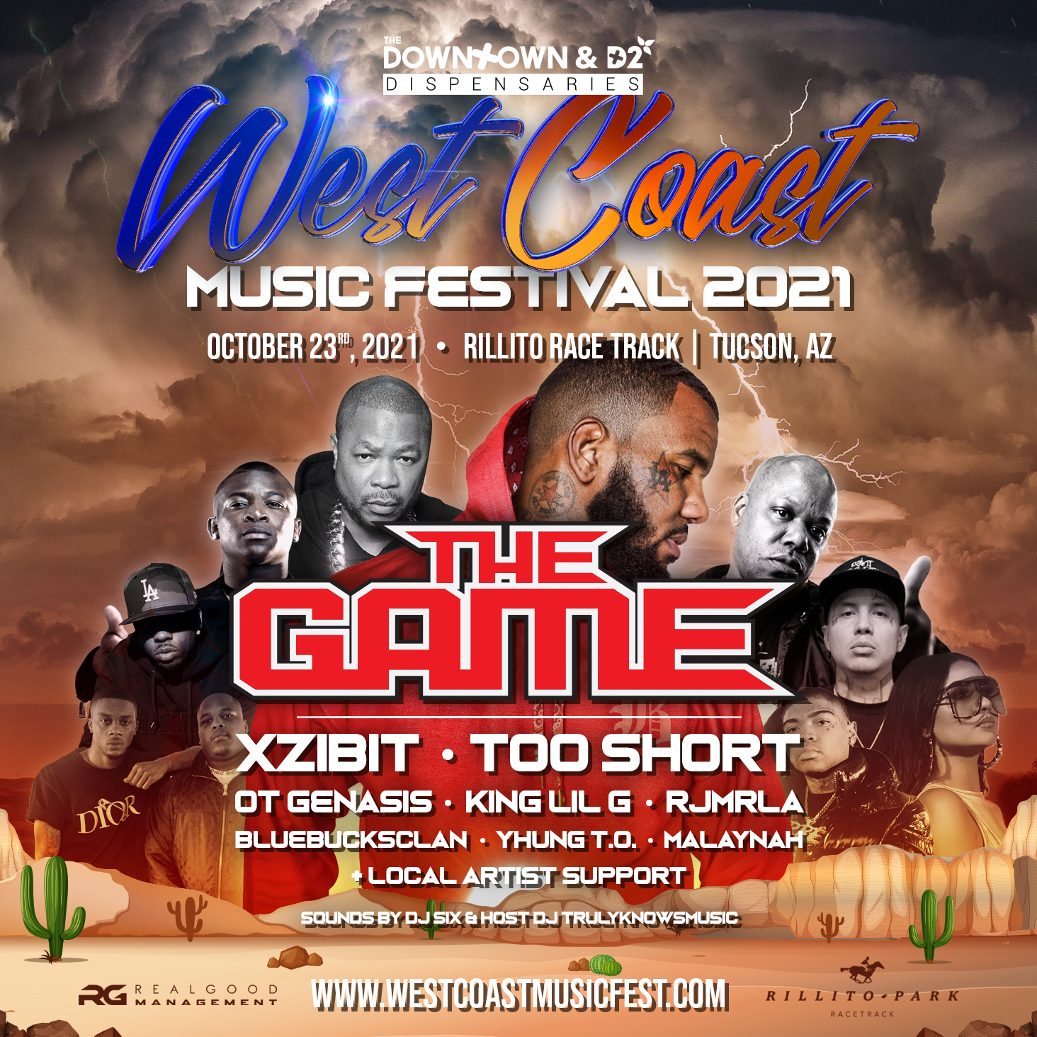 10/23: West Coast Music Festival at Rillito Race Track