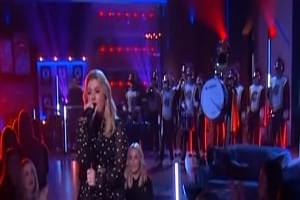 Marching Band Makes Kelly Clarkson Rock