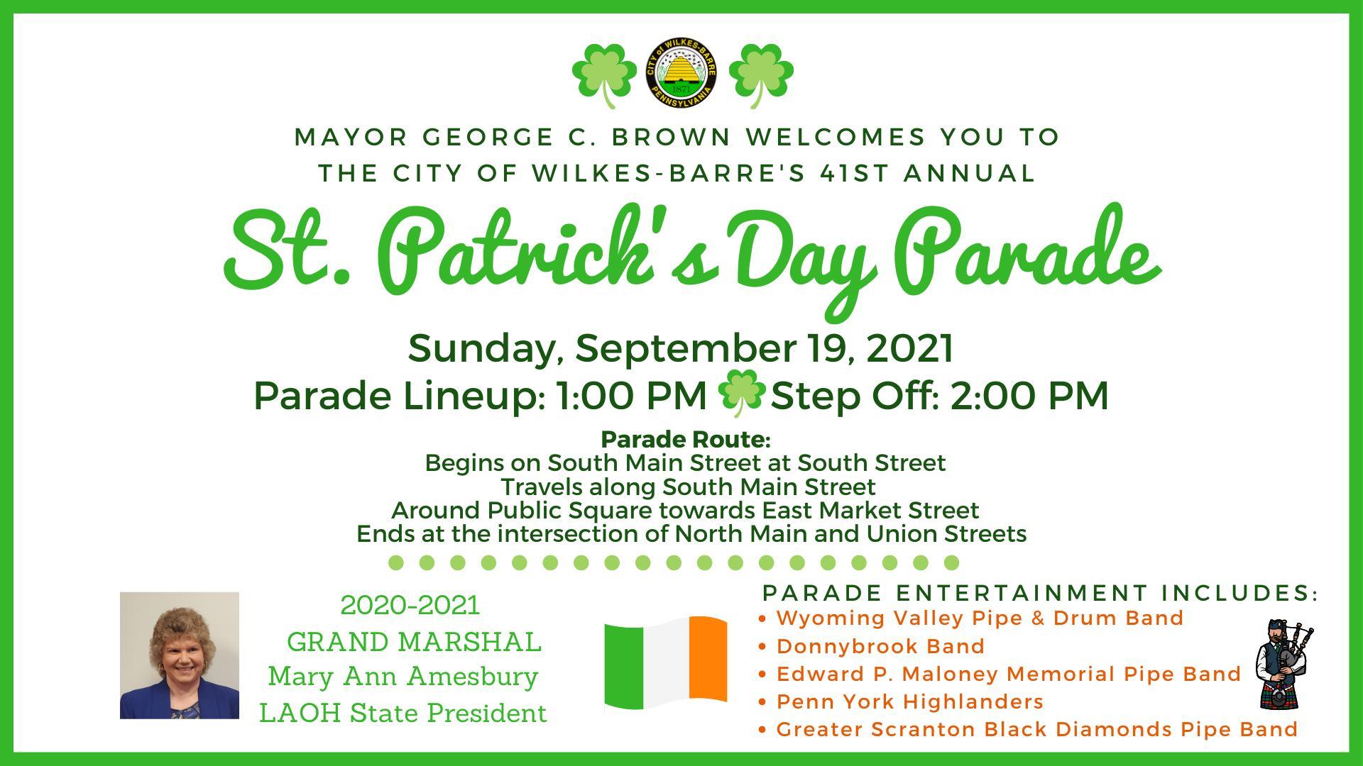 Wilkes Barre St. Patricks Day Parade
