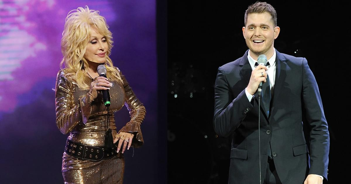 "Listen to Dolly Parton & Michael Bublé Melt Hearts With New Song, ""Cuddle Up, Cozy Down Christmas"""